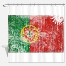 Portugal Flag Shower Curtain