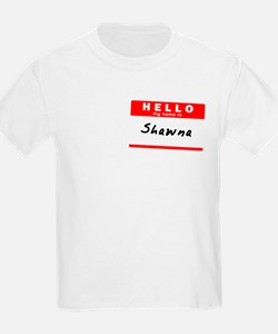 Shawna, Name Tag Sticker T-Shirt