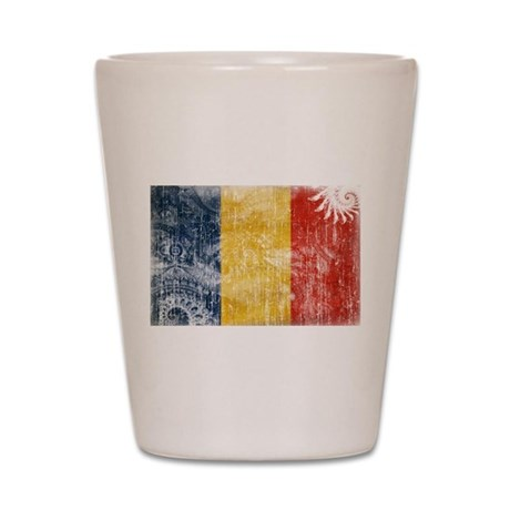 Romania Flag Shot Glass