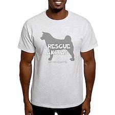3-IRescueakitas_black T-Shirt