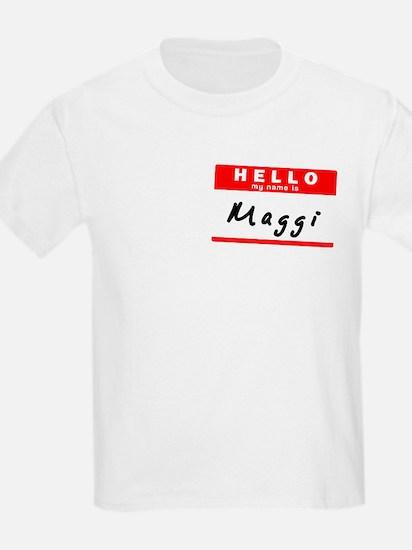 Maggi, Name Tag Sticker T-Shirt