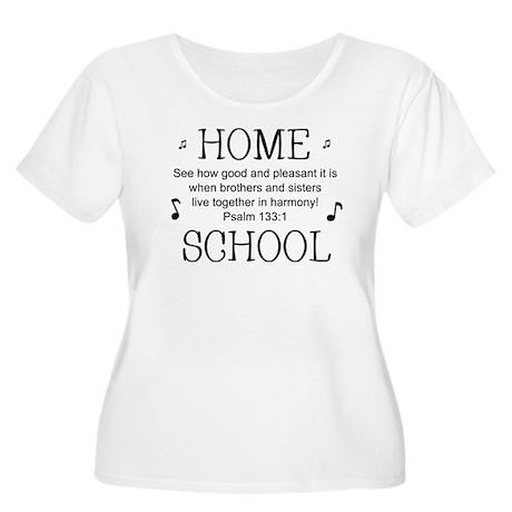 HOMESCHOOL HARMONY Women's Plus Size Scoop Neck T-