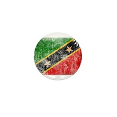 Saint Kitts Nevis Flag Mini Button (100 pack)
