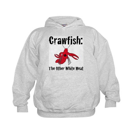 Crawfish, the other white meat Kids Hoodie