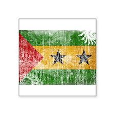"Sao Tome and Principe Flag Square Sticker 3"" x 3"""