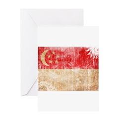 Singapore Flag Greeting Card