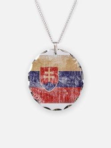 Slovakia Flag Necklace