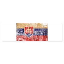 Slovakia Flag Car Sticker