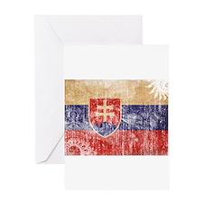 Slovakia Flag Greeting Card