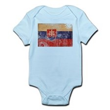 Slovakia Flag Infant Bodysuit