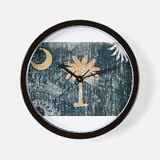 South Carolina Flag Wall Clock