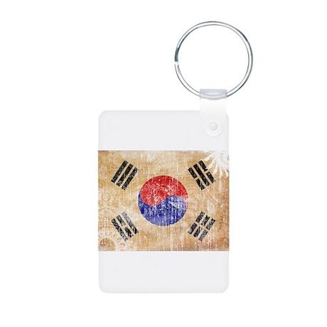 South Korea Flag Aluminum Photo Keychain