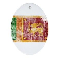 Sri Lanka Flag Ornament (Oval)