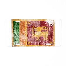 Sri Lanka Flag Aluminum License Plate