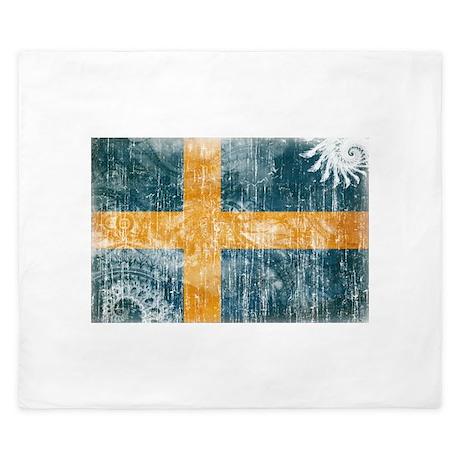 Sweden Flag King Duvet