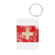 Switzerland Flag Aluminum Photo Keychain