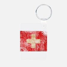 Switzerland Flag Aluminum Photo Keychain