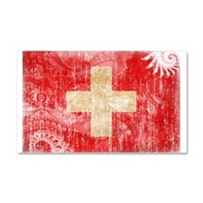 Switzerland Flag Car Magnet 20 x 12