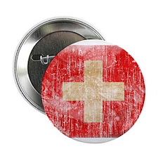 """Switzerland Flag 2.25"""" Button"""
