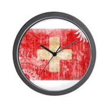 Switzerland Flag Wall Clock