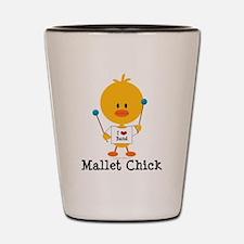 Mallet Chick Shot Glass