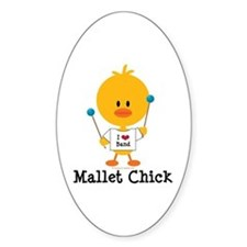 Mallet Chick Decal