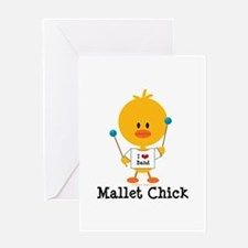 Mallet Chick Greeting Card