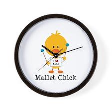 Mallet Chick Wall Clock