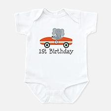 1st Birthday Race Car Gift Infant Bodysuit