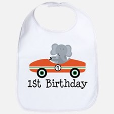 1st Birthday Race Car Gift Bib