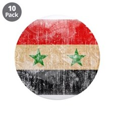 """Syria Flag 3.5"""" Button (10 pack)"""