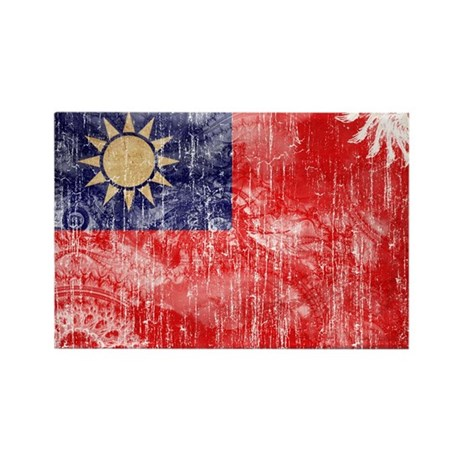 Taiwan Flag Rectangle Magnet (100 pack)