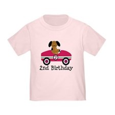 2nd Birthday Race Car Gift T