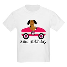 2nd Birthday Race Car Gift T-Shirt