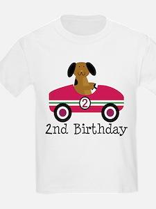 2nd Birthday Race Car Gift T-Shirt