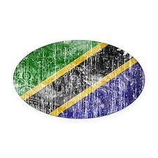 Tanzania Flag Oval Car Magnet