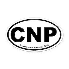 Canyonlands National Park Oval Car Magnet