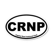 Capitol Reef National Park Oval Car Magnet