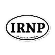 Isle Royale National Park Oval Car Magnet