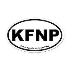 Kenai Fjords National ParkOval Car Magnet