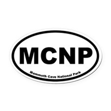 Mammoth Cave National Park Oval Car Magnet