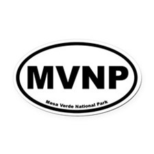 Mesa Verde National Park Oval Car Magnet