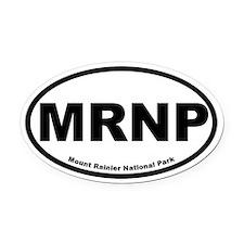 Mount Rainier National Park Oval Car Magnet