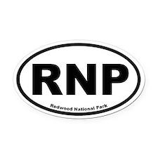 Redwood National Park Oval Car Magnet