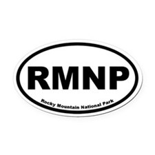 Rocky Mountain National Park Oval Car Magnet