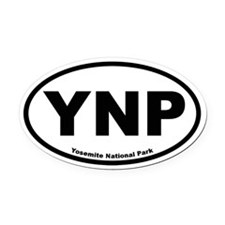 Yosemite National Park Oval Car Magnet