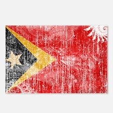 Timor Leste Flag Postcards (Package of 8)