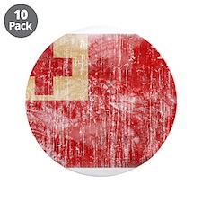 "Tonga Flag 3.5"" Button (10 pack)"