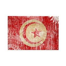 Tunisia Flag Rectangle Magnet