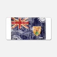 Turks and Caicos Flag Aluminum License Plate